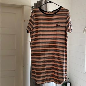 Stripped vans off the wall dress